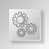 3D Gray Square Object Symbol Concept Images libres de droits