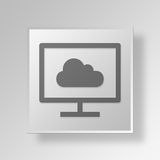 3D Gray Square Object Symbol Concept Royalty-vrije Stock Foto's