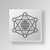 3D Gray Square Object Symbol Concept Royalty-vrije Stock Fotografie