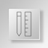 3D Gray Square Object Symbol Concept Photos libres de droits