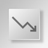 3D Gray Square Object Symbol Concept Stock Afbeeldingen