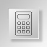 3D Gray Square Object Symbol Concept-calculator Royalty-vrije Stock Foto's