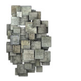 3d gray square tile grunge pattern on white Royalty Free Stock Images