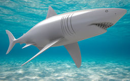 3D great white shark Royalty Free Stock Photo