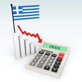 3d Greece crisis concept Stock Photography