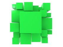 3d green abstract background. Render illustration Stock Photography