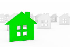 3d Green Abstract House Royalty Free Stock Photo