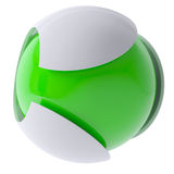3d green abstract sphere Royalty Free Stock Image