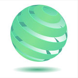 3D green ball Royalty Free Stock Photo