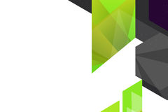 3d green and black geometric shape right side, abstrack background Royalty Free Stock Photo