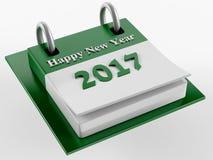 3D Green Calendar 2017 Royalty Free Stock Photos