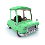 3d Green cartoon car Stock Image