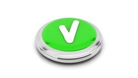 3d Green check button Stock Photo