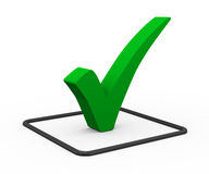 3d green check mark Royalty Free Stock Photo