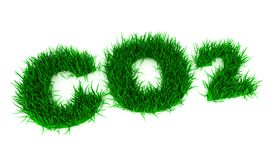 3d green CO2 Stock Photo