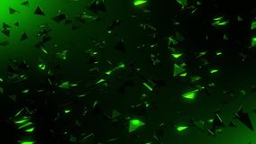 3D Green Flying Abstract Triangles Loopable Motion Background. Abstract 3D Green Flying Abstract Triangles Loopable Motion Background Backdrop stock video