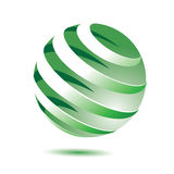 3d green globe Royalty Free Stock Photography