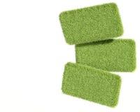 3d green grass tablets Stock Photos