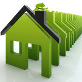 3d green house ecology colony Stock Images