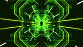 3D Green Neon Tunnel Loopable Motion Background stock video footage