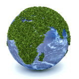 3D green planet Africa Stock Photo