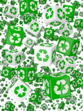 3d Green recycle dice Royalty Free Stock Photography