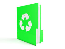 3d green recycle folder Royalty Free Stock Photography