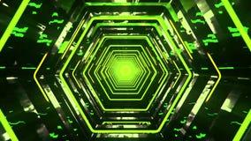 3D Green Sci-Fi Hexagon Tunnel VJ Loop Background. 3D Green Sci-Fi Hexagon Tunnel VJ Loop Motion Background stock video footage