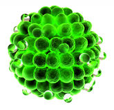 3d green sphere made of small red spheres concept Royalty Free Stock Photos