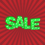 3D green text sale Royalty Free Stock Photos