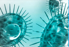 3d green viruses illustration Royalty Free Stock Images