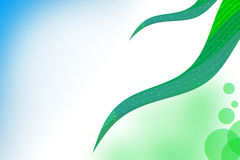 3d green waves left side, abstrack background Royalty Free Stock Photo