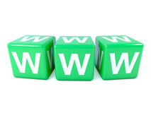 3d Green WWW dice Stock Photography