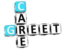3D Greet Care Crossword Stock Images