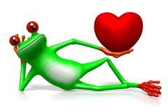 3D grenouille - concept d'amour Photos libres de droits