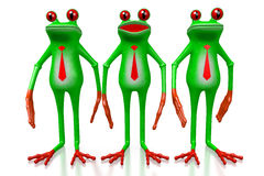 3D grenouille - concept d'hommes d'affaires Photos stock