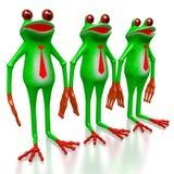 3D grenouille - concept d'hommes d'affaires Image stock