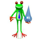 3D grenouille - concept de l'eau Image stock