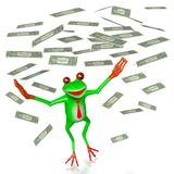 3D grenouille - concept de richesse Images stock