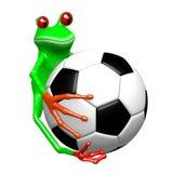 3D grenouille - concept du football Photos libres de droits