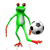 3D grenouille - concept du football Image stock