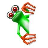 3D grenouille - concept en verre Images libres de droits