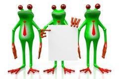 3D grenouilles - concept de présentation Images libres de droits