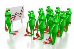 3D grenouilles - concept de présentation/réunion Photo stock