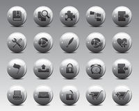 3d Grey Balls Stock Vector web and office icons in high resolution. Stock Images