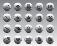3d Grey Balls Stock Vector web and office icons in high resolution. Stock Image
