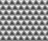 3d grey cubical contour abstract geometrical seamless pattern background Stock Images