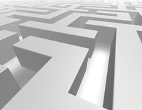 3d grey maze abstract background. 3d grey maze background render illustration royalty free illustration