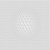 3D grey honey comb seamless pattern with zoom effect. Background, screen saver, wallpaper, water mark stock illustration