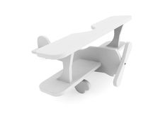 3d Grey toy airoplane Stock Images